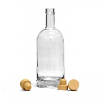 Бутылка Виски Премиум, 1 л с пробкой, толстое дно